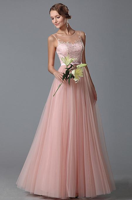 Padnoucí růžové šaty s tylovou sukní  ac765fe218